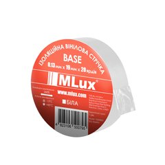 Vinyl PVC tape MLux BASE 19 mm x 20 yards (152000005) White